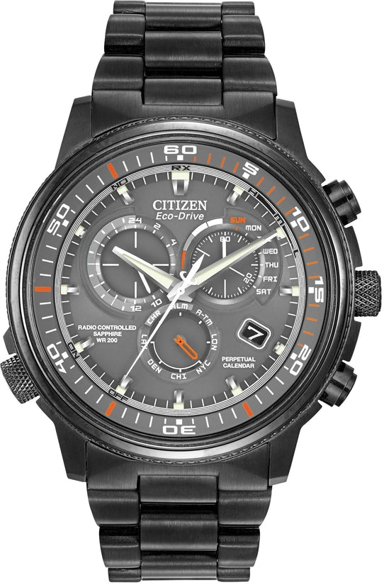 Nighthawk A-T Chronograph Grey Stainless Steel Mens Watch AT4117-56H