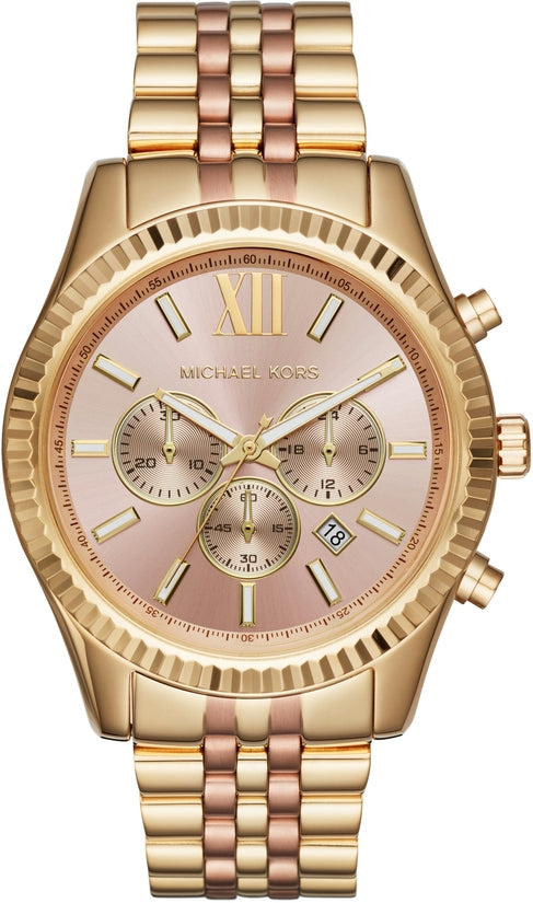 Lexington Chronograph Gold and Rose Gold Tone Stainless Steel