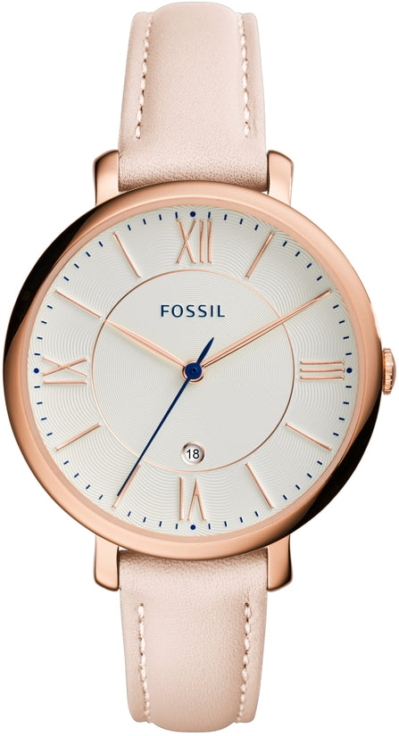 Jacqueline Blush Leather White Dial