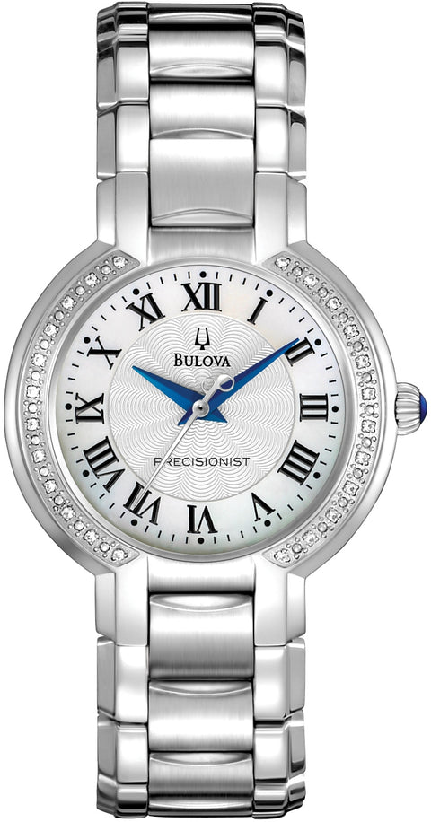 Fairlawn Precisionist Diamond Accented MOP Dial Stainless Steel Women's Watch 96R167