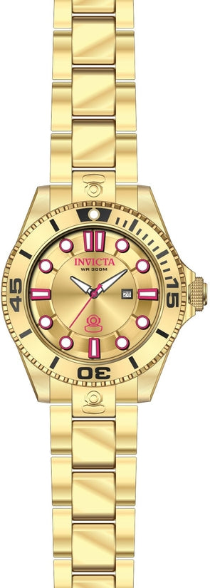 Pro Diver Women's Stainless Steel Gold Dial