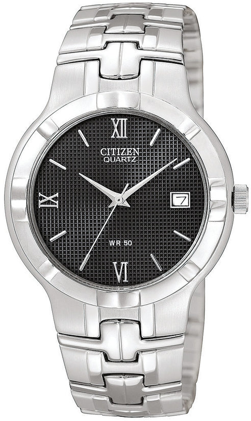 Black Dial Analog Stainless Steel Mens Watch BK2320-52E