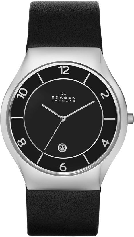 SKW6115 Grenen Black Dial Leather Strap Men's Watch