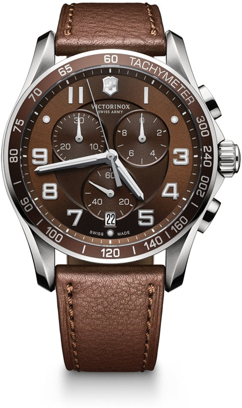 Chrono Classic XLS Brown Dial & Leather