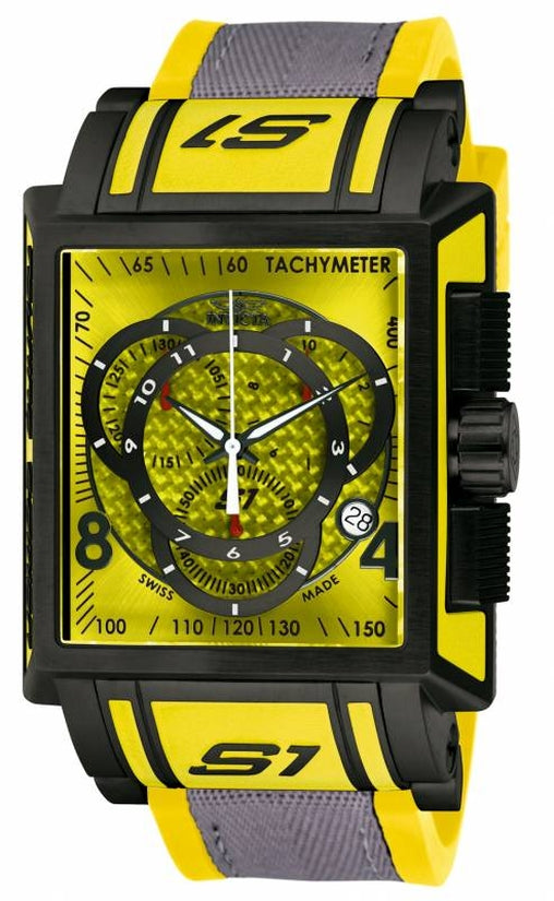 S1 Rally Men's Polyurethane Yellow Dial