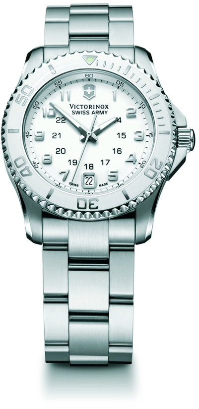 Maverick GS GMT White Dial Silver Tone