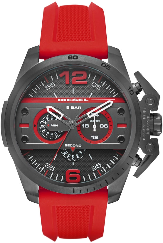 Ironside Gray Dial Red Silicone