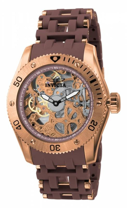 Sea Spider Men's Polyurethane/Stainless Steel Rose Gold Dial