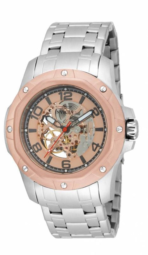 Specialty Men's Stainless Steel Rose Gold Dial