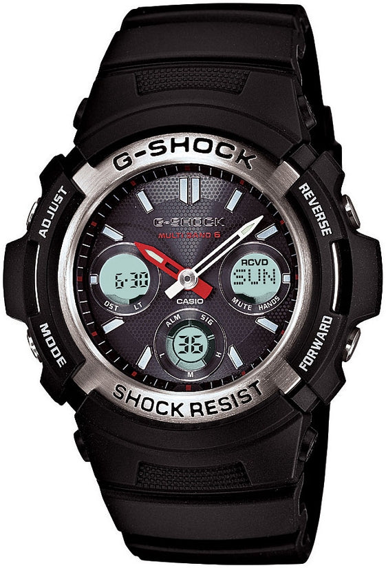 G-Shock AWGM100-1A Atomic Analog Digital Multifunction Black Rubber Mens Watch