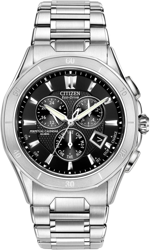 Octavia Perpetual Calender Black Stainless Steel Mens Watch BL5460-51E