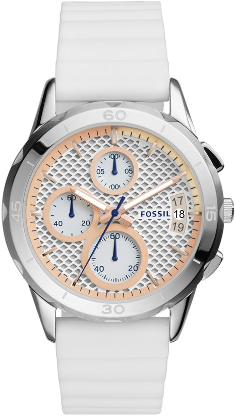 Modern Pursuit Chronograph White Silicone