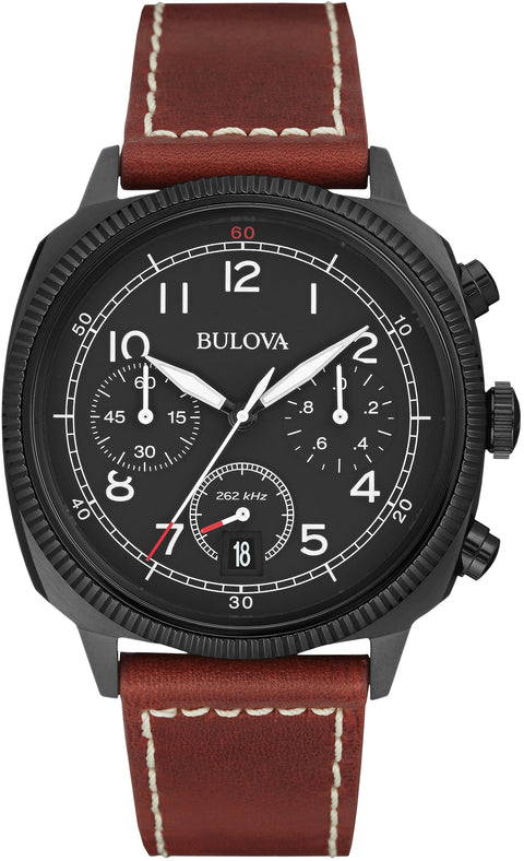 Military Chronograph Brown Leather