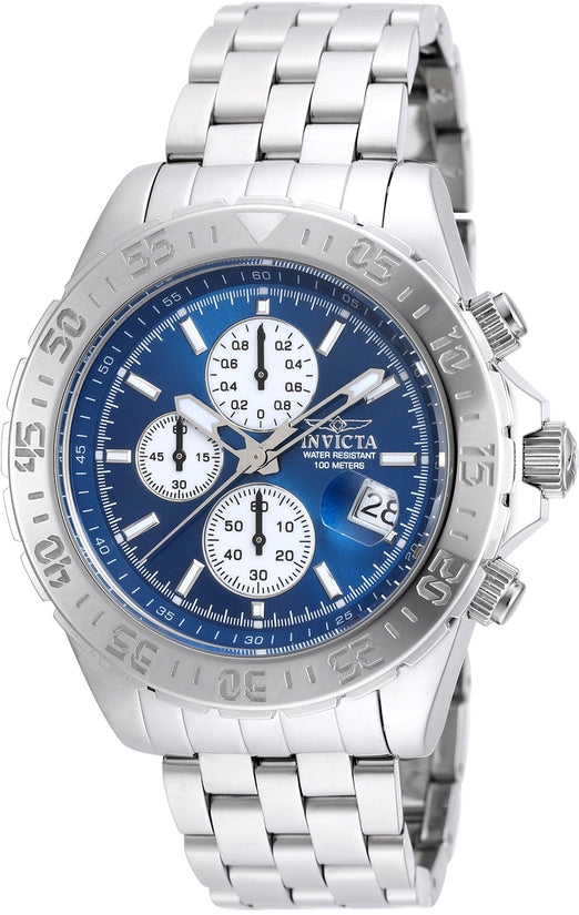 Aviator Men's Stainless Steel Blue Dial