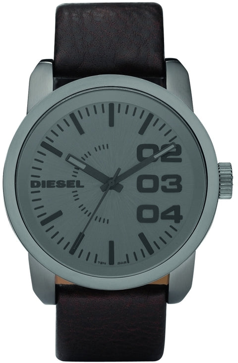 Double Down 46 Gray Dial Black Leather