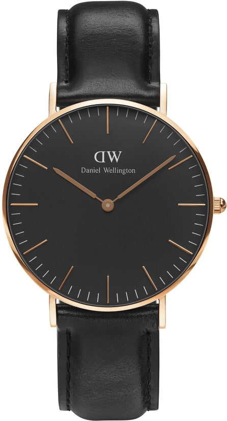 Classic Black Sheffield Rose Gold 36mm