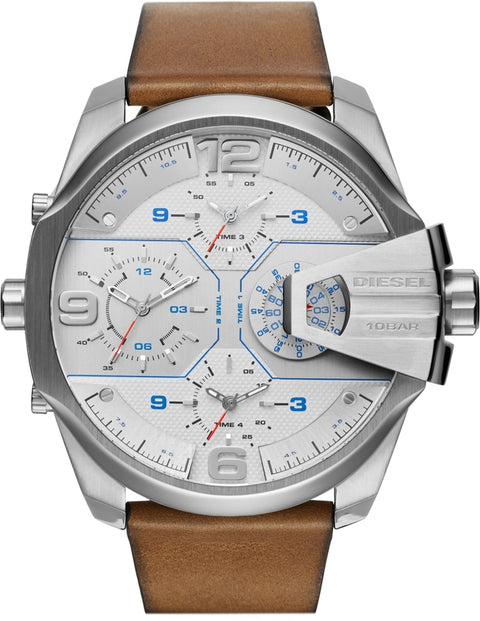 Uber Chief White Dial Brown Leather