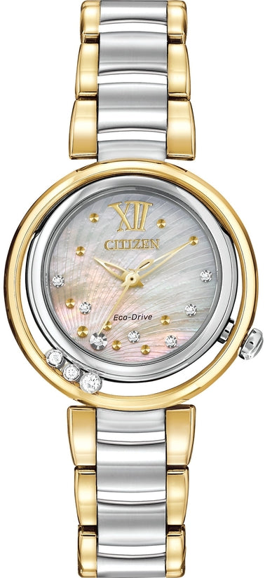Citizen L Two Tone 10 Diamonds
