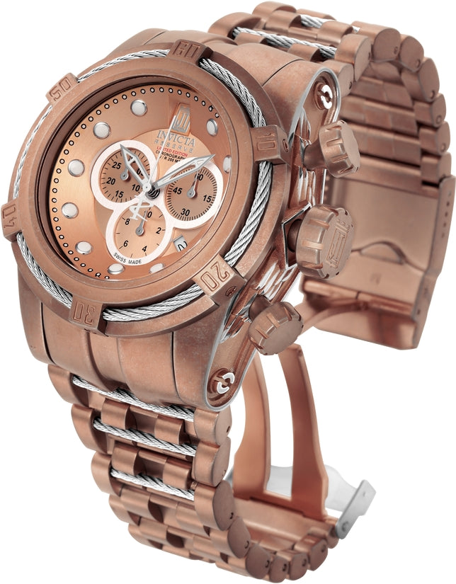 Jason Taylor Men's Stainless Steel Rose Gold Dial