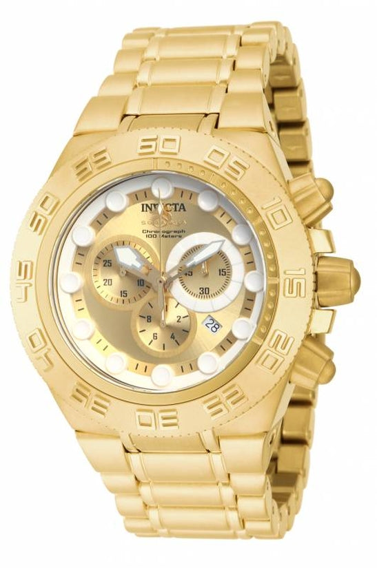 Subaqua Men's Stainless Steel Gold Dial