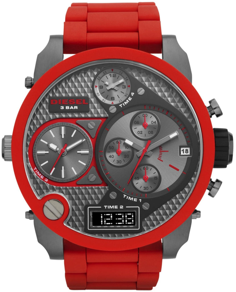 DZ7279 Mr. Daddy Chronograph Gunmetal Dial Red Rubber Mens Watch