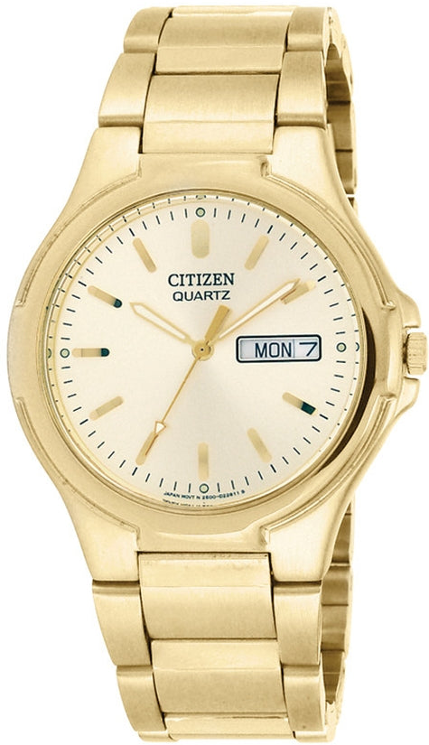 Gold Tone Analog Stainless Steel Mens Watch BK3562-58P