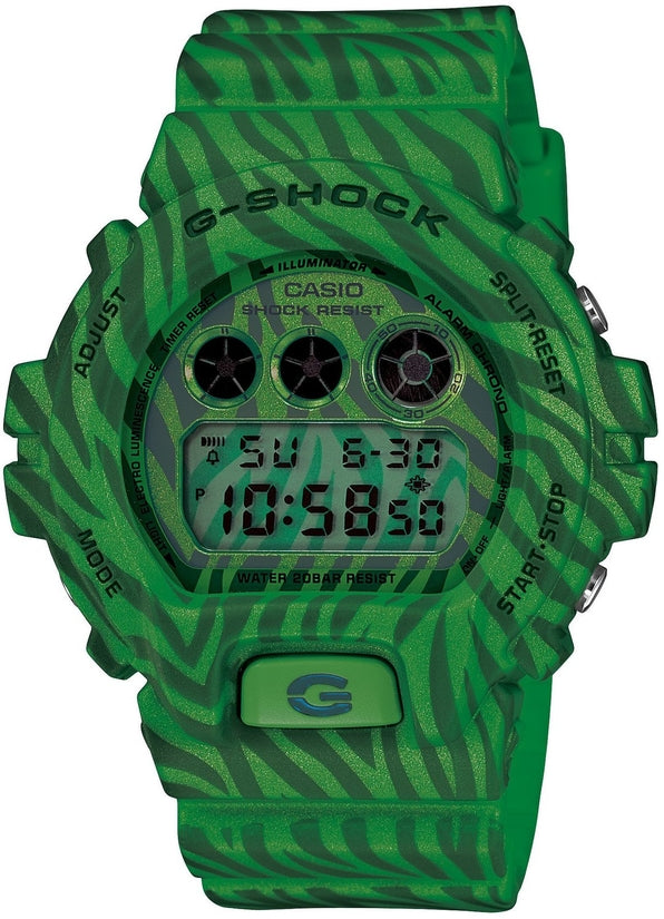 G-Shock DW6900ZB-3 Classic Digital Green Zebra Resin Strap Mens Watch