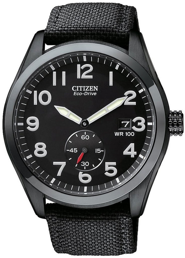 Sport Black Dial Ion Plated Nylon Strap Mens Watch BV1085-06E