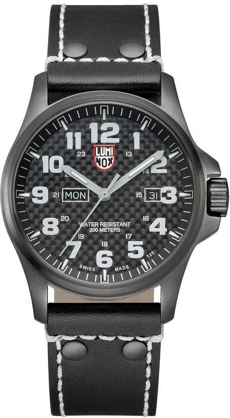 Atacama Field Day Date Divers Black Leather Mens Watch 1920