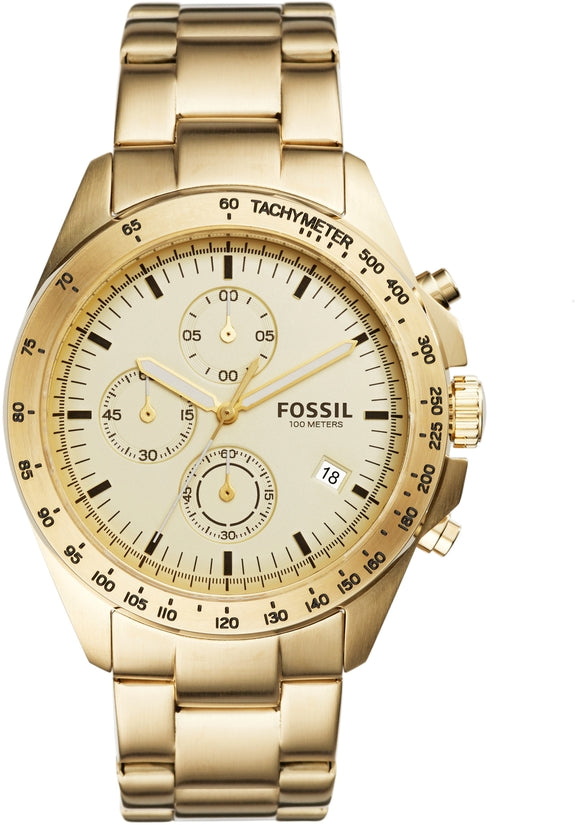 Sport 54 Chronograph Champagne Dial Gold Tone