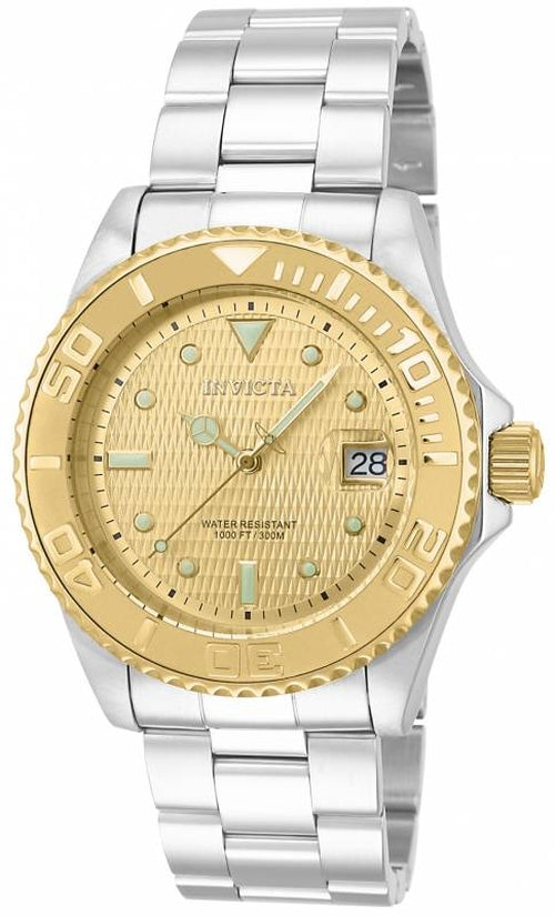 Pro Diver Men's Stainless Steel Gold Dial