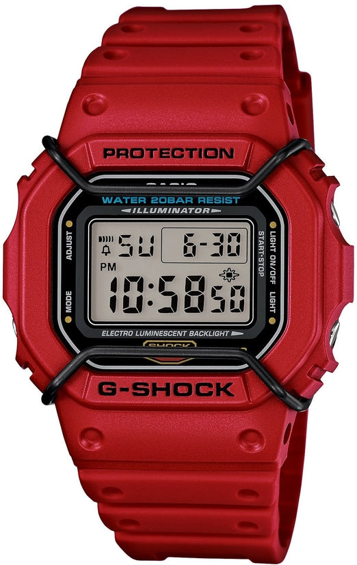 G-Shock DW5600P-4 Classic Series Red Resin Strap Mens Watch