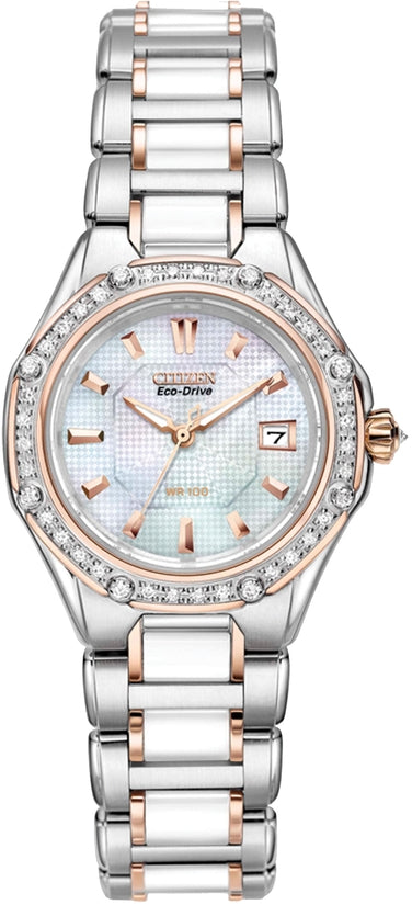 Octavia Diamond Two-tone Ceramic Womens Watch EW2196-52D
