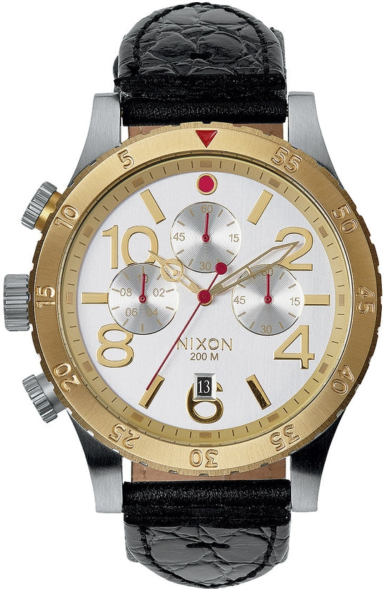 48-20 Chrono Leather Silver / Gold / Black