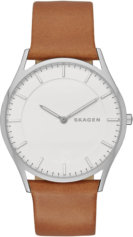 Holst White Dial Brown Leather