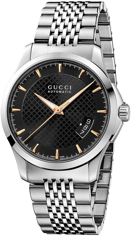 G-Timeless Automatic Silver Tone Black Dial