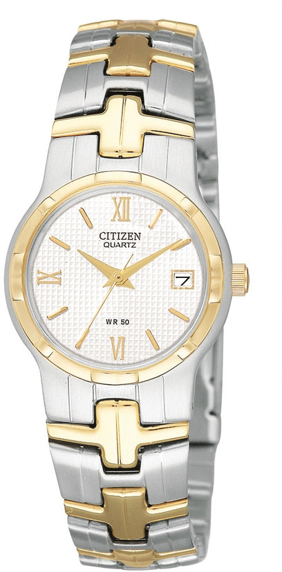 White Dial Analog Two-Tone Stainless Steel Womens Watch EU2434-59A