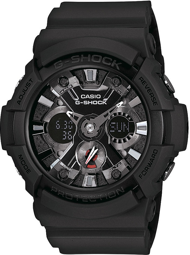 G-Shock Classic Series Multi-Function Black Dial Resin Strap Men's Watch GA201-1A