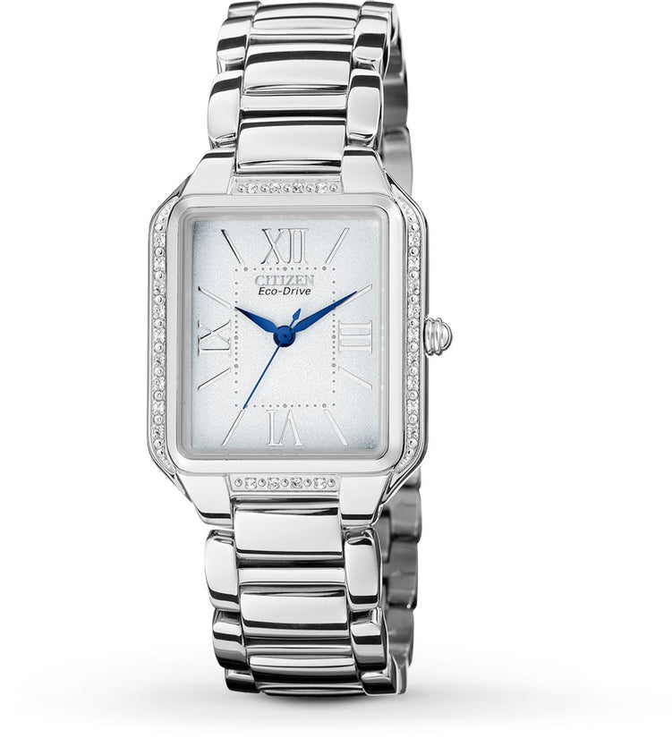 Ciena White Dial Analog Stainless Steel Women's Watch EM0190-52A