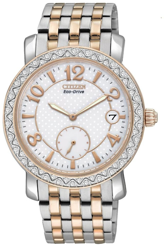 TTG Ivory Dial Analog Two-Tone Stainless Steel Women's Watch EV1016-58A