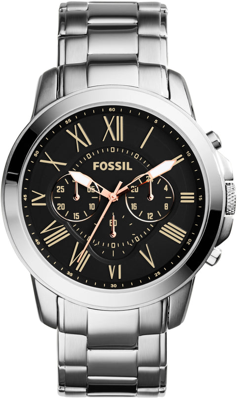 FS4994 Grant Chronograph Balck Dial Stainless Steel Strap Men's Watch