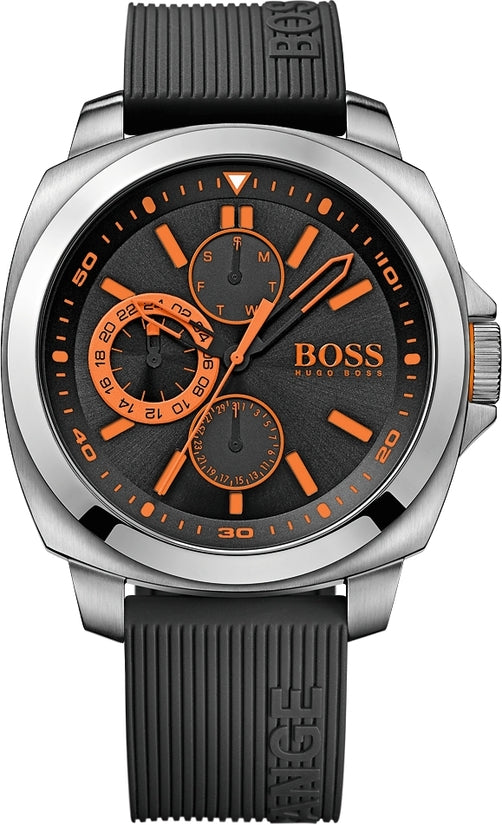 Brisbane Men's Black Silicone Black Dial