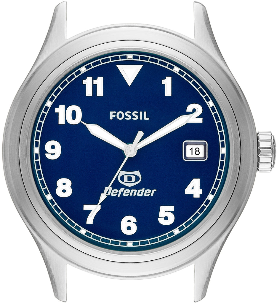 DEC1002 Defender Three-Hand Blue Dial Stainless Steel Strap Mens Watch