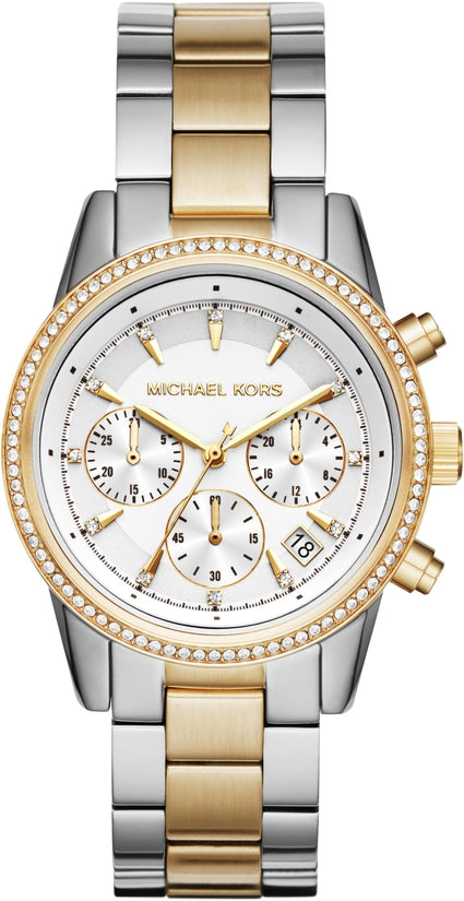Ritz Chronograph Silver and Gold Tone Stainless Steel