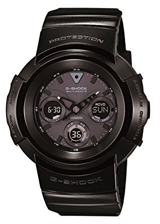 Men's Multifunction Black Dial Black Resin