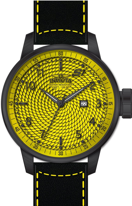 S1 Rally Men's Leather Yellow Dial