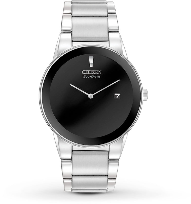 Axiom Silver Tone Black Dial
