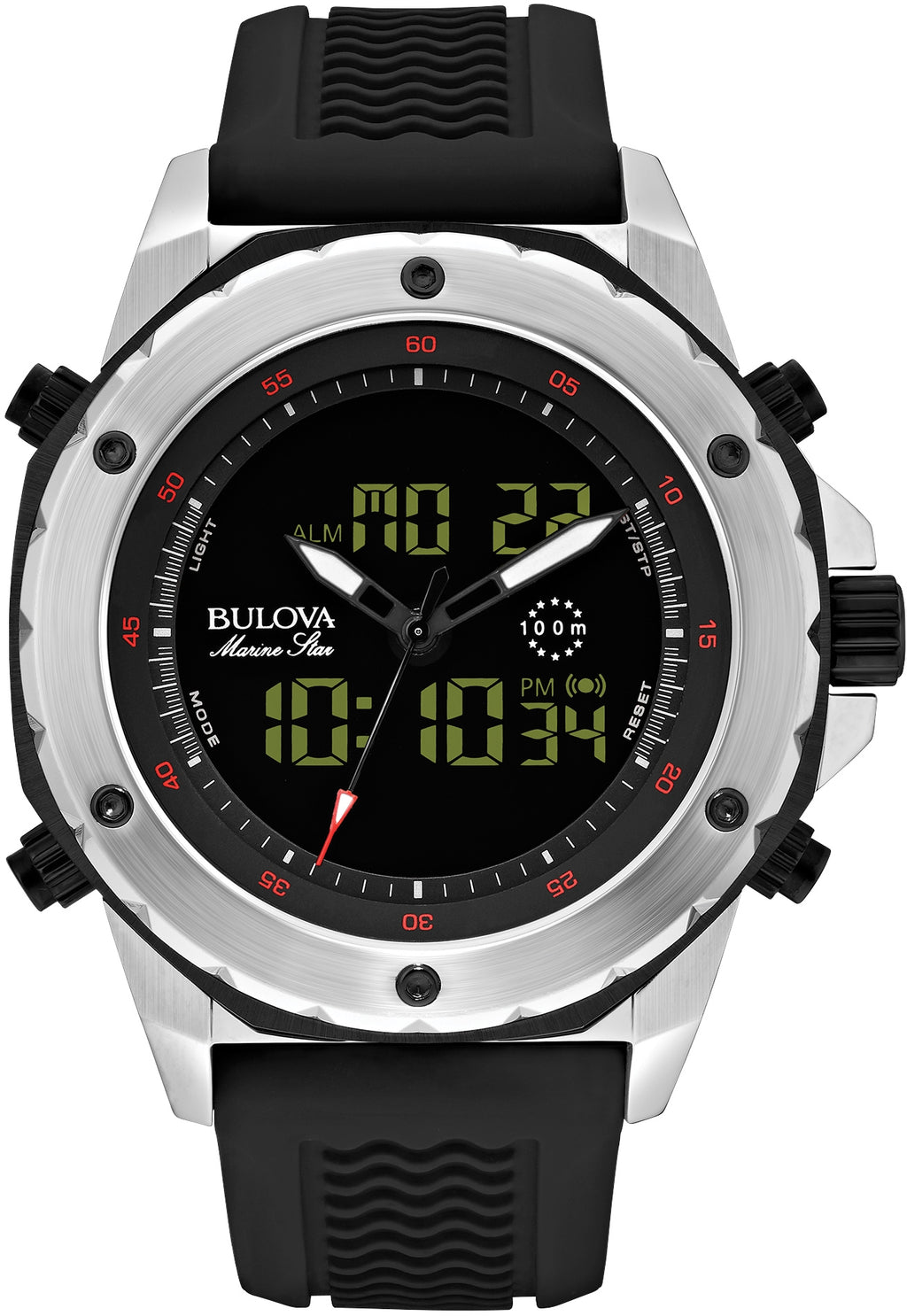 Marine Star Chronograph Analog/Digital Rubber
