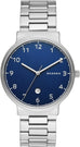 Ancher Blue Dial Silver Tone