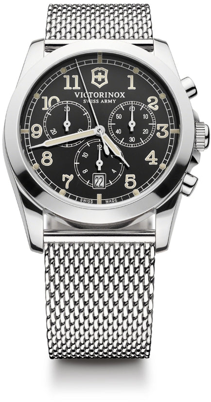 Infantry Chronograph Silver Tone Mesh